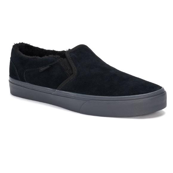 cc9029f225 Men s Vans Black Suede Slip On Sneakers
